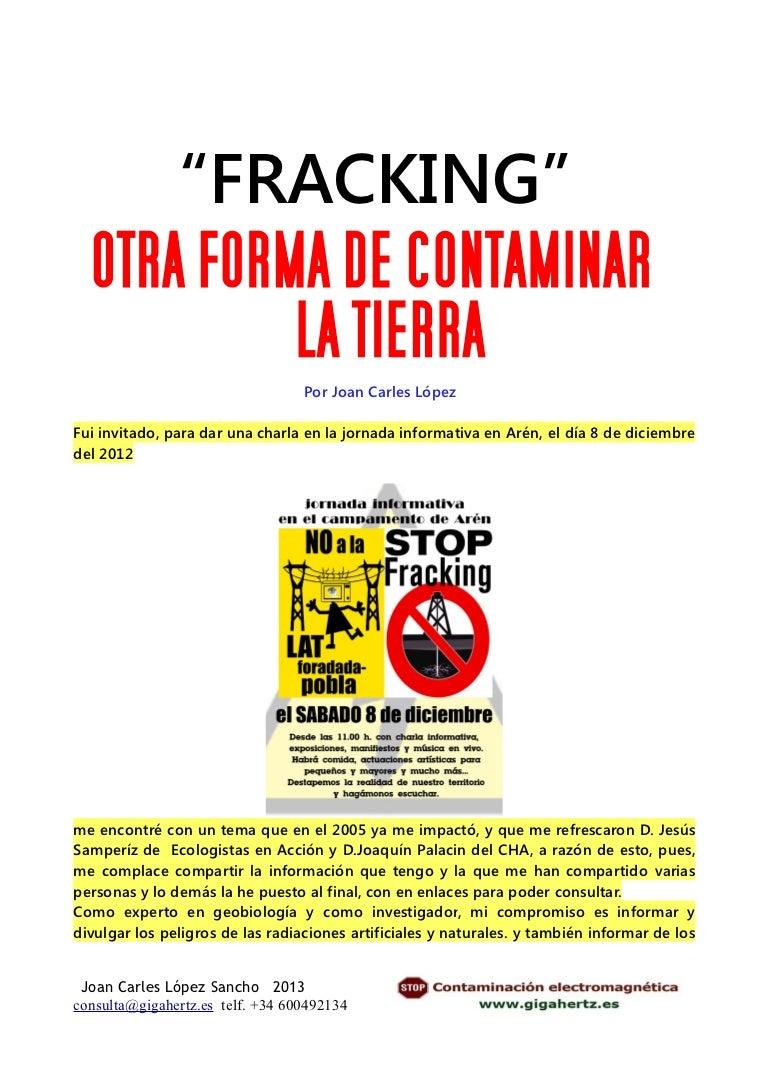 Fracking otra forma de contaminar la tierra
