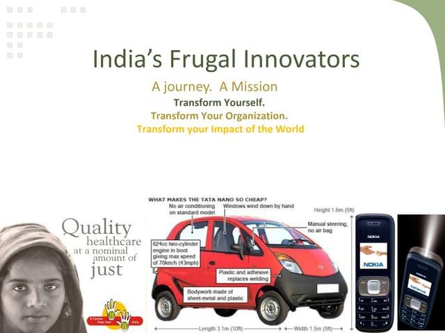 Framework for the frugal innovation