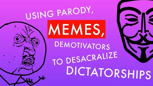 Using Parody, Memes, and Demotivators to Desacralize Dictatorships by Francišak Viačorka