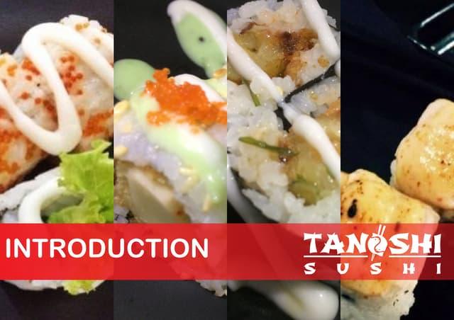 Franchise proposal (Tanoshi Sushi)