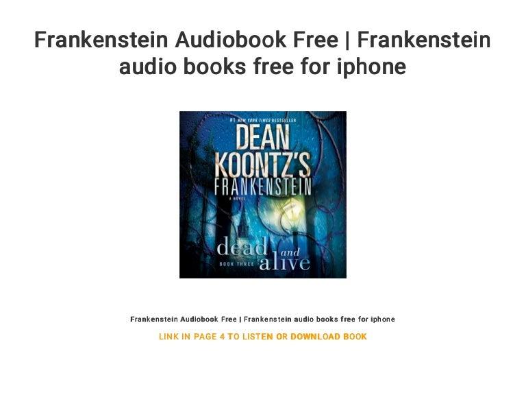 dean koontz frankenstein audiobook