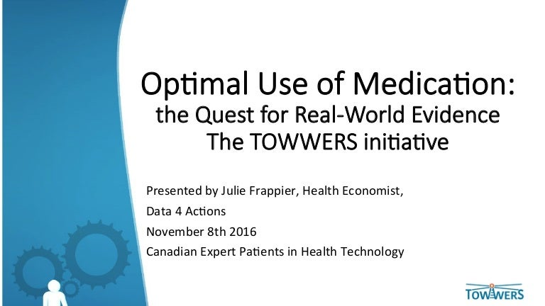 Optimal Use of Medication: the quest for real-world evidence