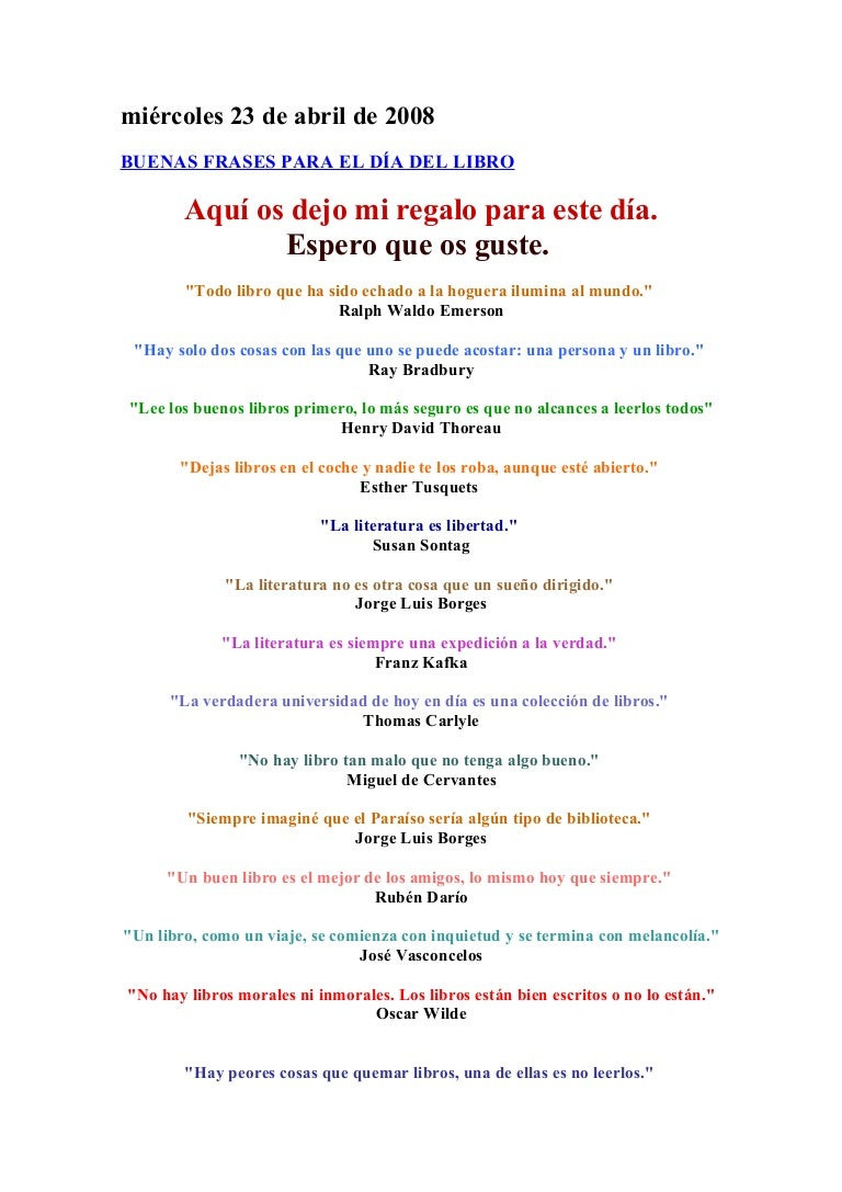 Frases Para El Día Del Libro