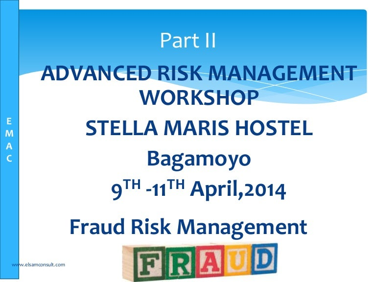 Fraud Risk Management Training  Elsam Management Consultants