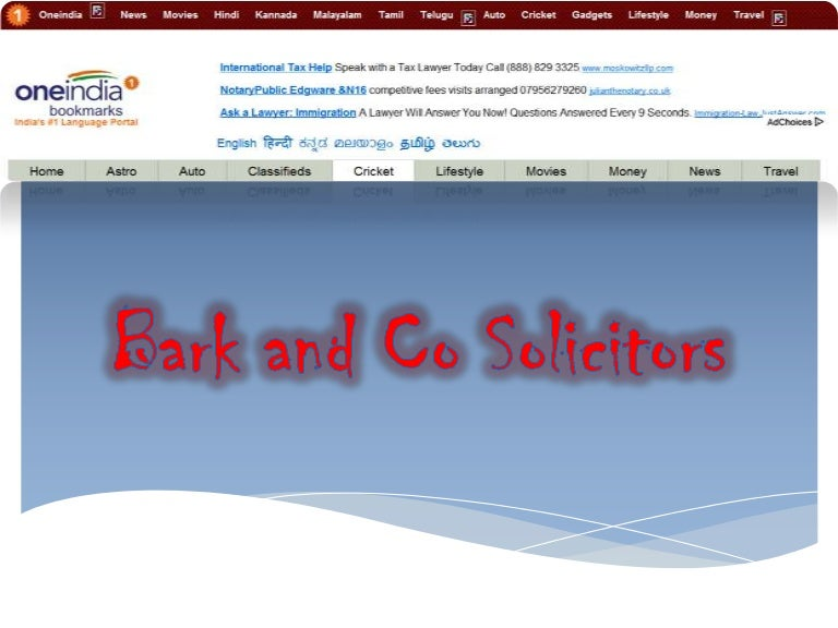 Fred bunn free online articles -bark and co solicitors