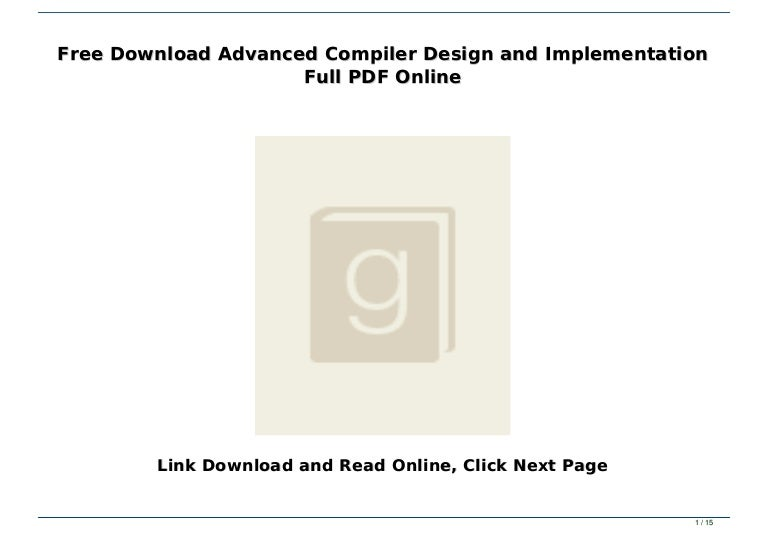 advanced compiler design and implementation pdf free download