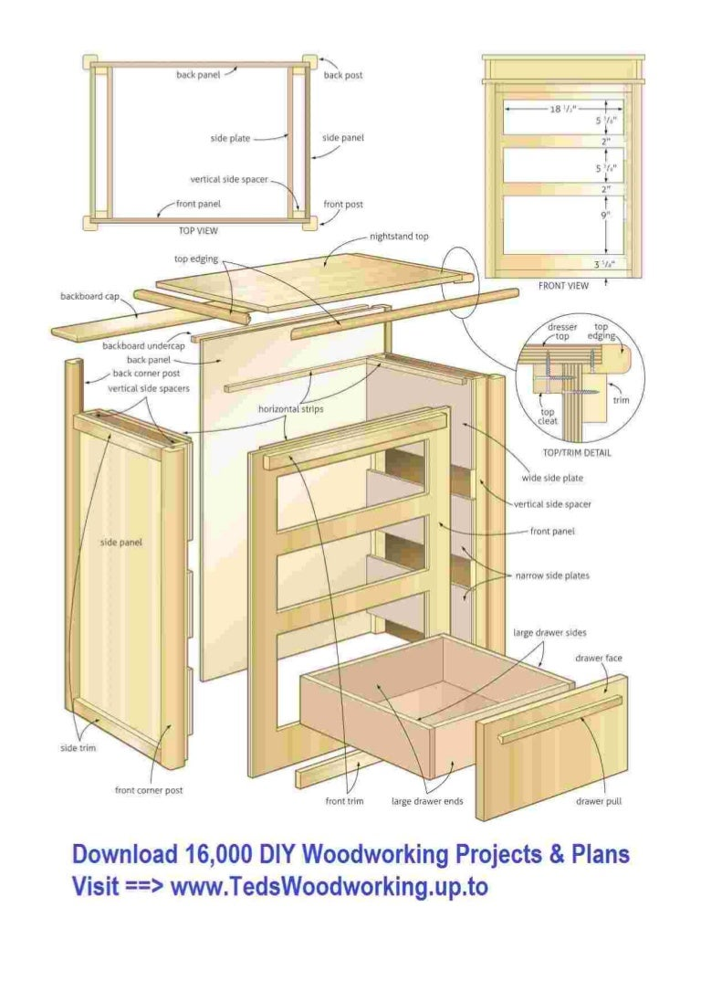 Free Wooden Nightstand Cabinet Plans