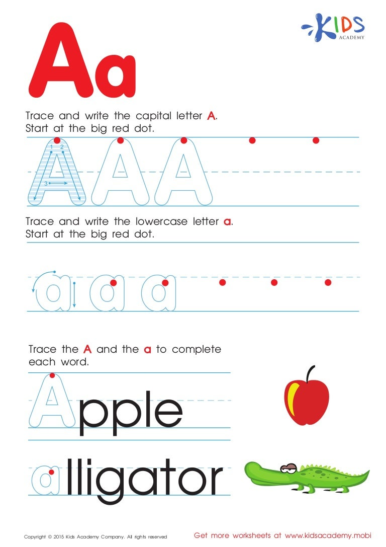 free alphabet worksheets for kids a z