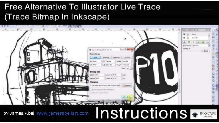 Free Alternative To Illustrator Live Trace (Trace Bitmap In