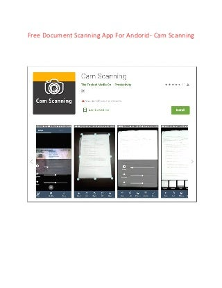 Free android document scanning app - Cam Scanning
