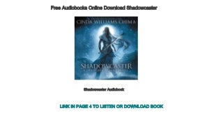 Free Audiobooks Online Download Shadowcaster