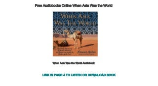 Free Audiobooks Online When Asia Was the World