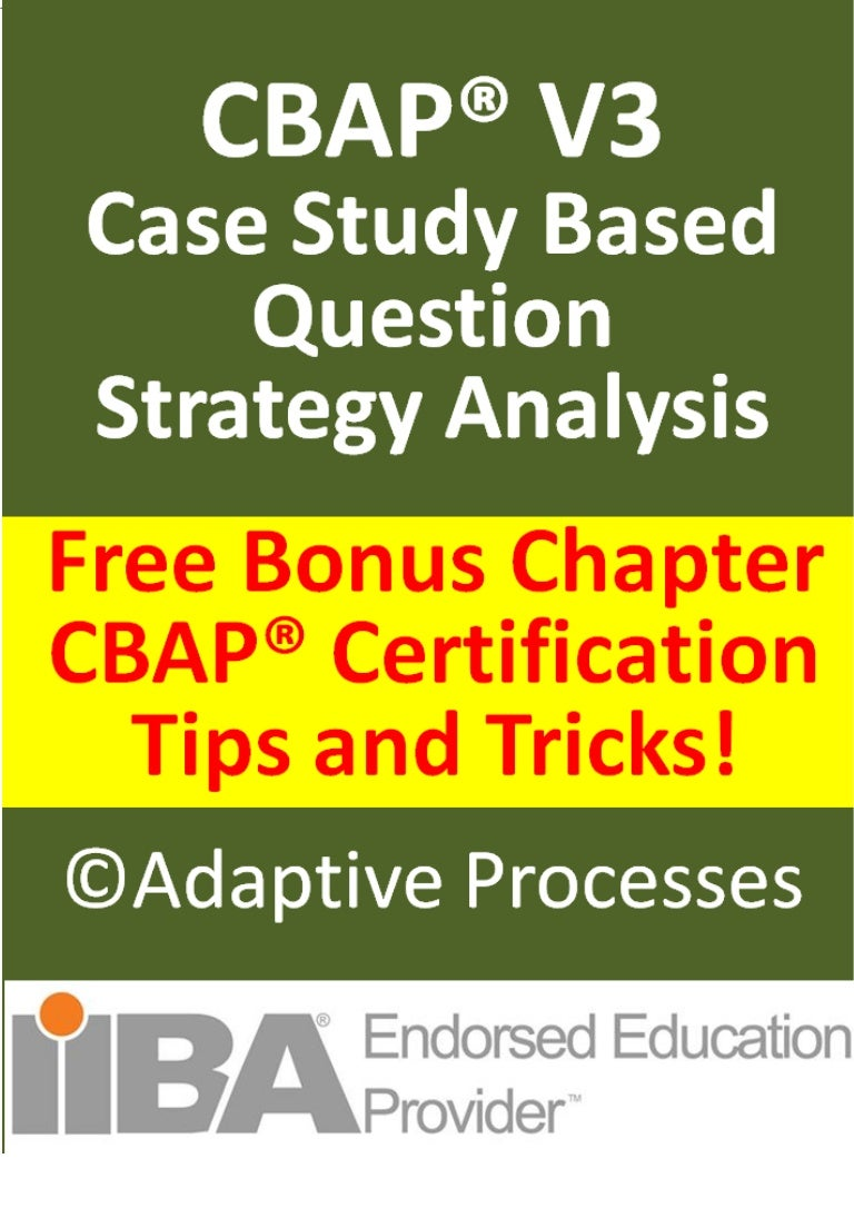 Free CBAP V3 questions