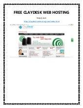 Free claydesk web hosting