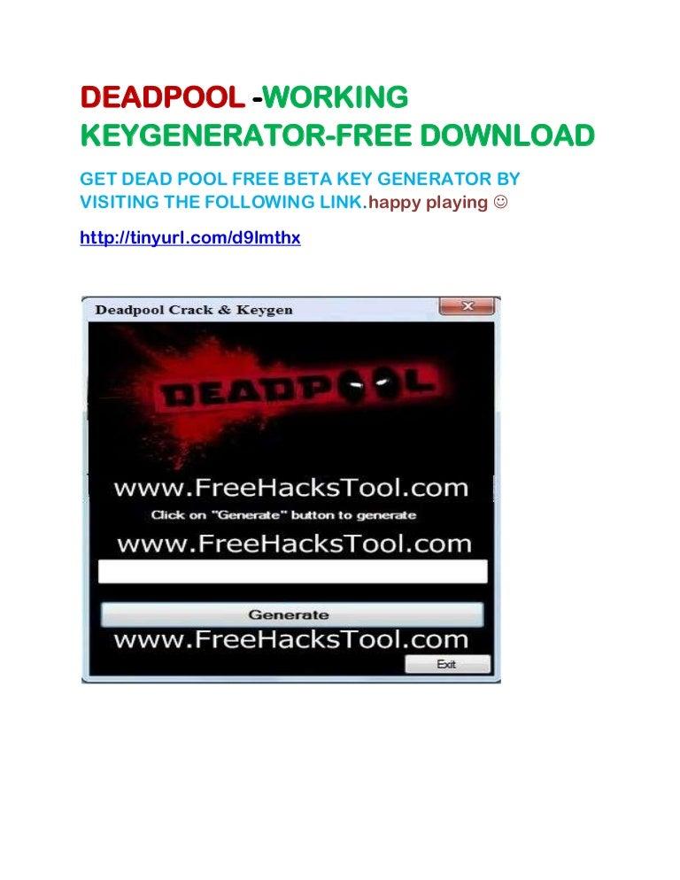 Deadpool Keygen Crack