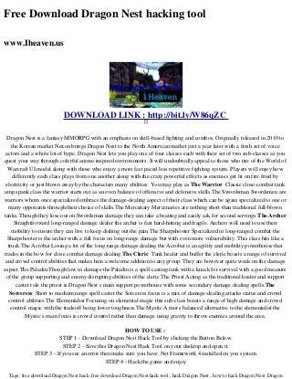 Free download dragon_nest_hacking_tool