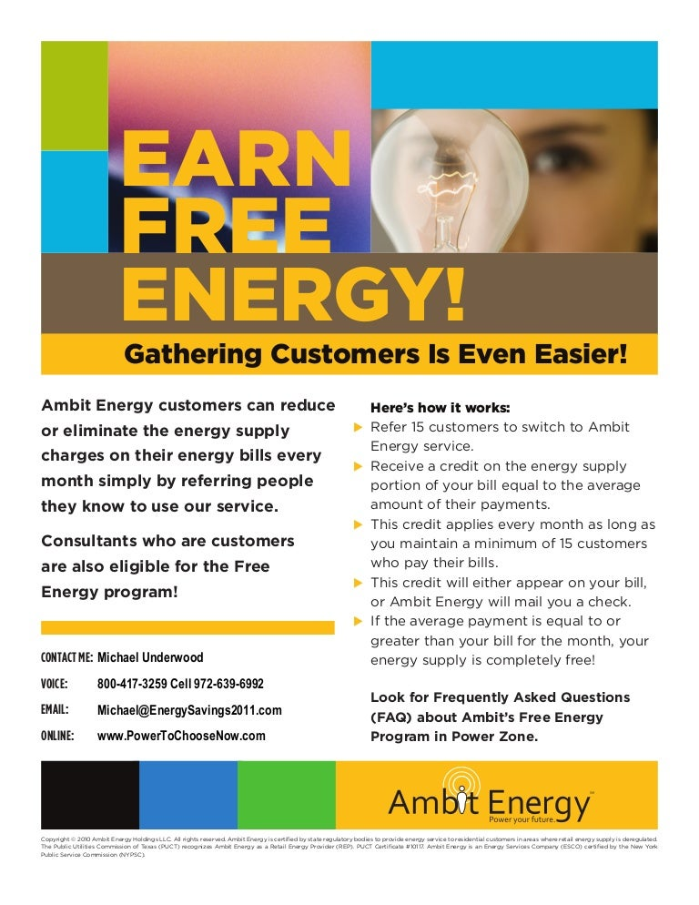 Learn About Ambit Energy S Free Electricity Program