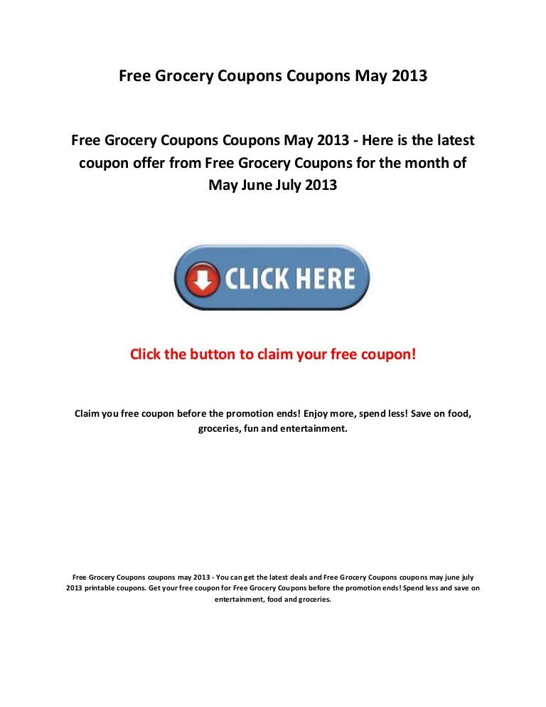 Free Grocery Coupons Coupons May 2013