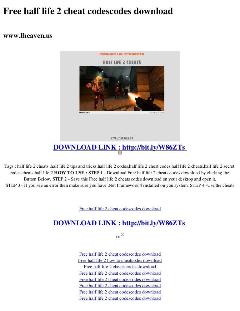 Free half life_2__cheat_codescodes_download