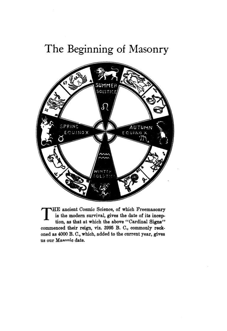 Freemasonry 027 Higgins The Beginning Of Masonry