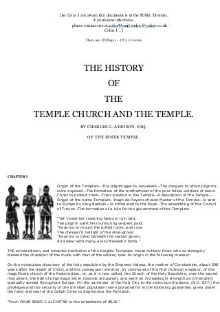 Freemasonry 072 the history of the temple church and the temple