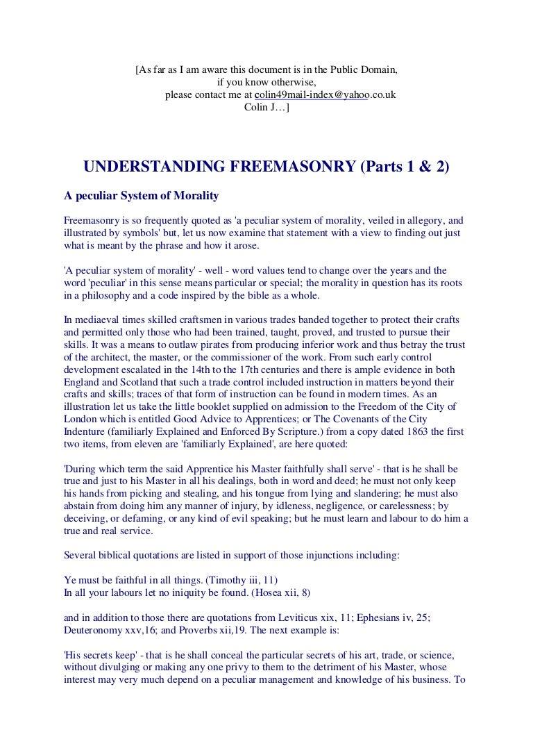 Freemasonry 167 understanding freemasonry parts 1 2 m4hsunfo