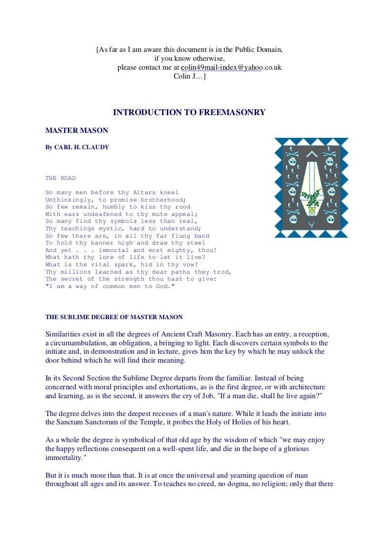 Freemasonry 184 introduction to freemasonry mm buycottarizona