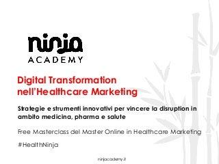 Digital Trasformation nell'Healthcare: scopri il Corso Ninja Academy