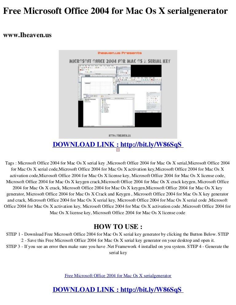 Free microsoft office_2004_for_mac_os_x_serialgenerator.
