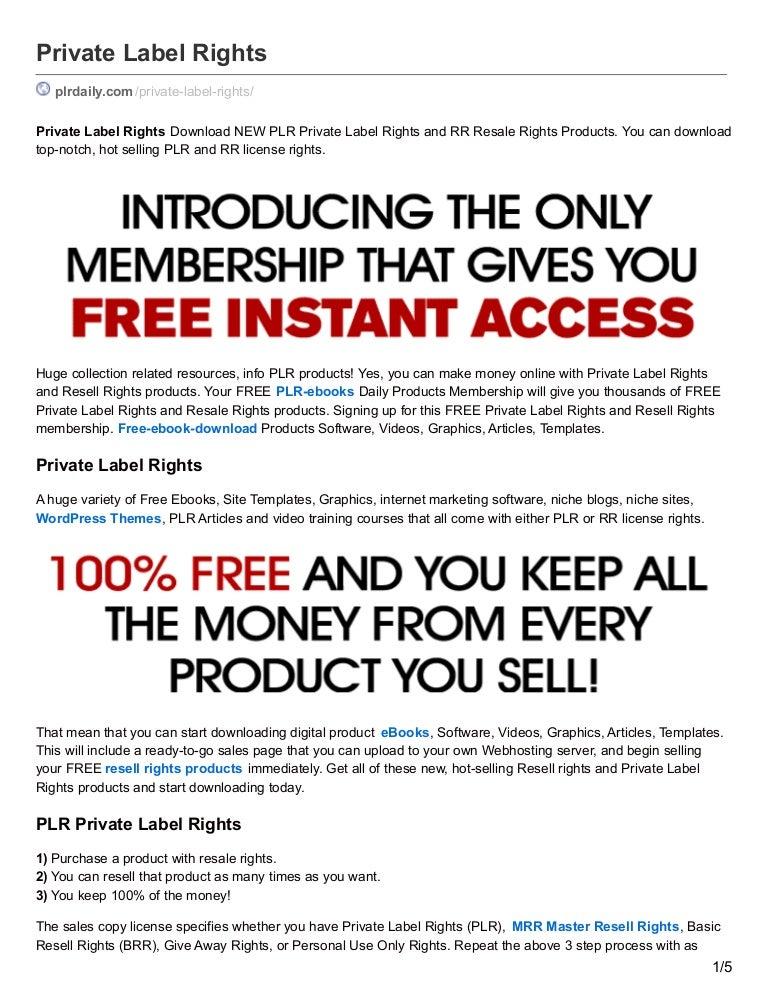 FREE PLR EBOOKS SOFTWARE PDF DOWNLOAD