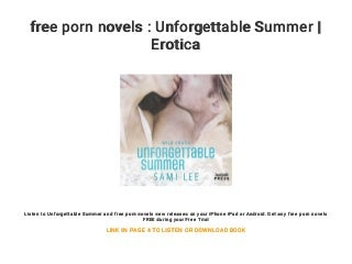 free porn novels : Unforgettable Summer - Erotica