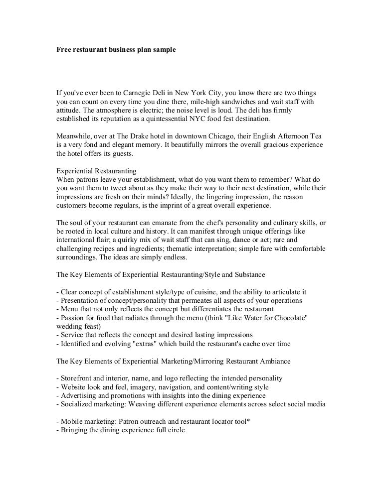 Food Business Proposal Sample Joselinohouse