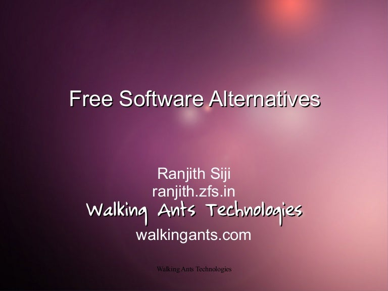Linux Alternative Softwares
