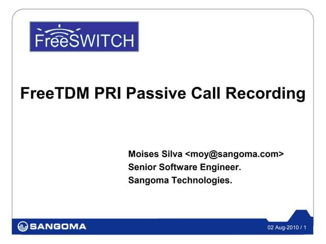 FreeTDM PRI Passive Recording