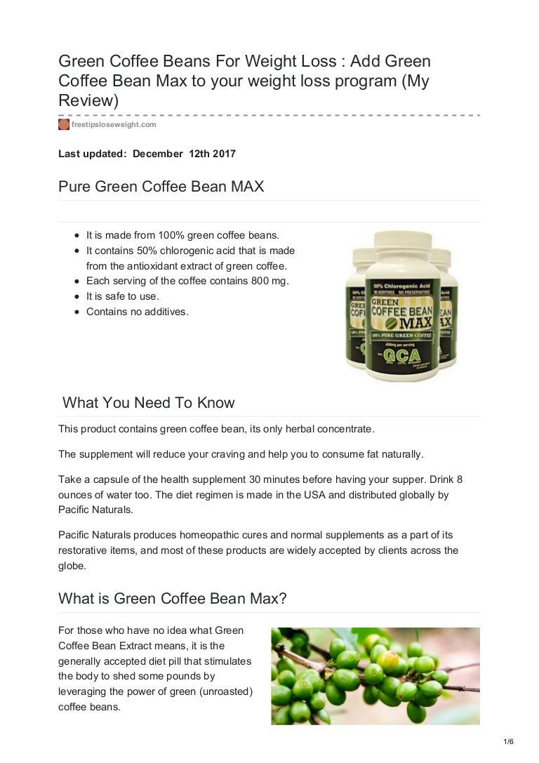 Green Coffee Beans For Weight Loss My Review