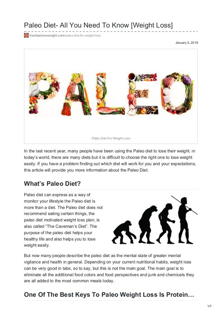 Can i lose weight on paleo