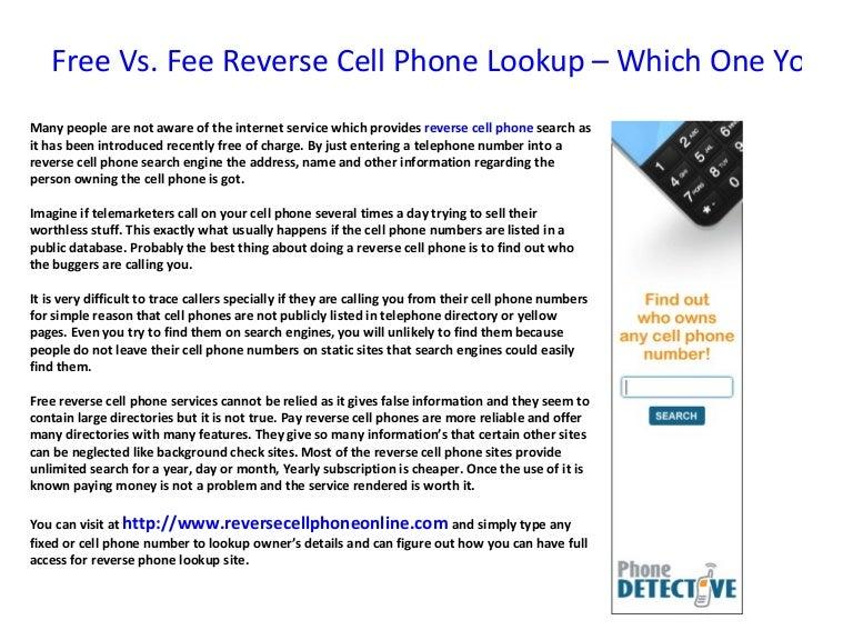 Free reverse phone lookup tools