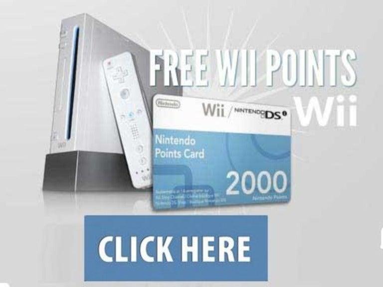 Wii points codes 2013.