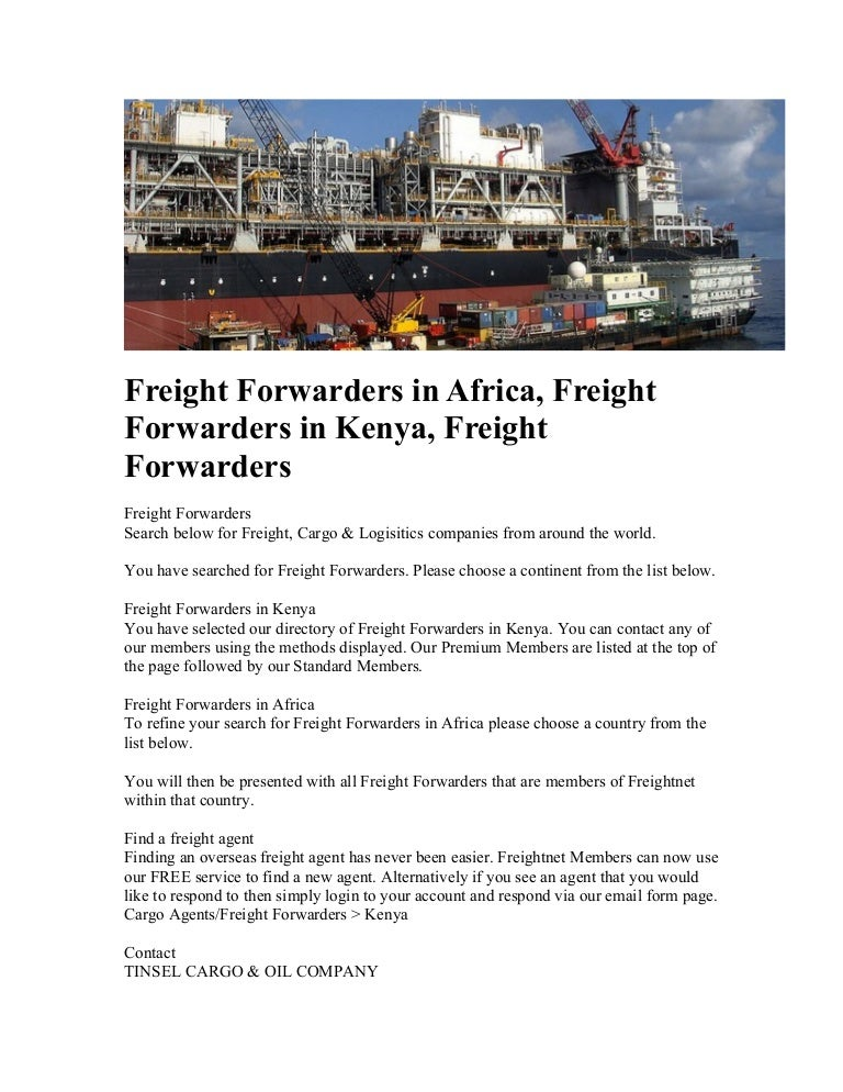 Freight forwarders in africa