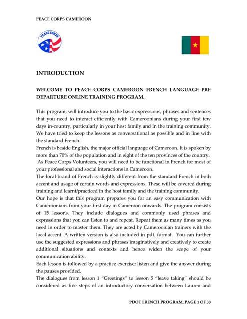 Basic French Language Course 1