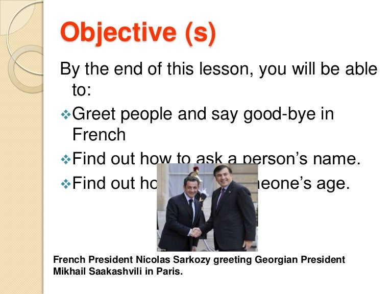 FRENCH: GREETING