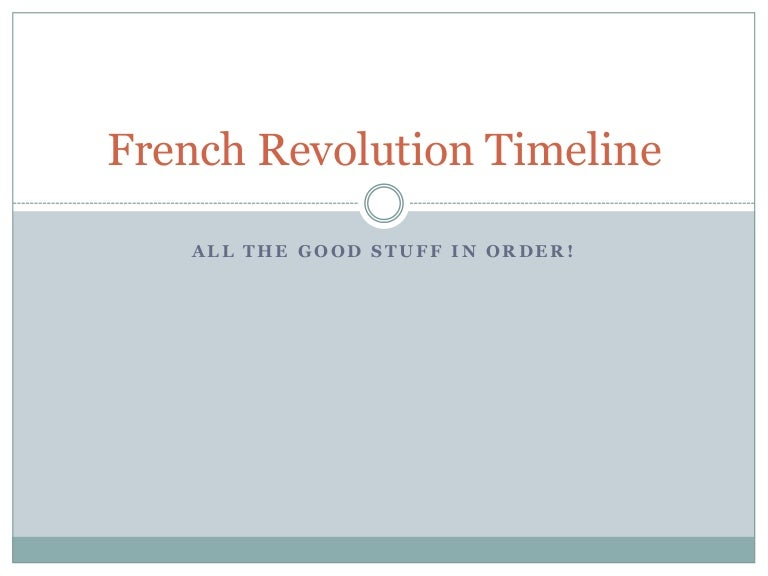 French revolution timeline cp