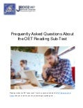 Frequently Asked Questions About the OET Reading Sub-Test