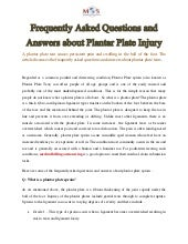 Frequently Asked Questions and Answers about Plantar Plate Injury