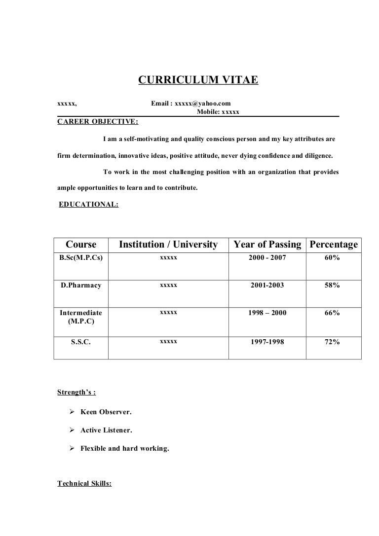 Fresher Resume Sample14 By Babasab Patil