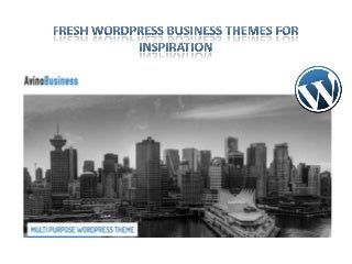 Fresh WordPress Business Themes