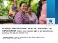 Women's empowerment in nutrition-sensitive agriculture: how to truly integrate gender considerations to maximize the impacts on nutrition