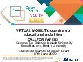 [EADTU & Open VM Webinar] Virtual Mobility: Opening Up Educational Mobilities CALL FOR PAPERS