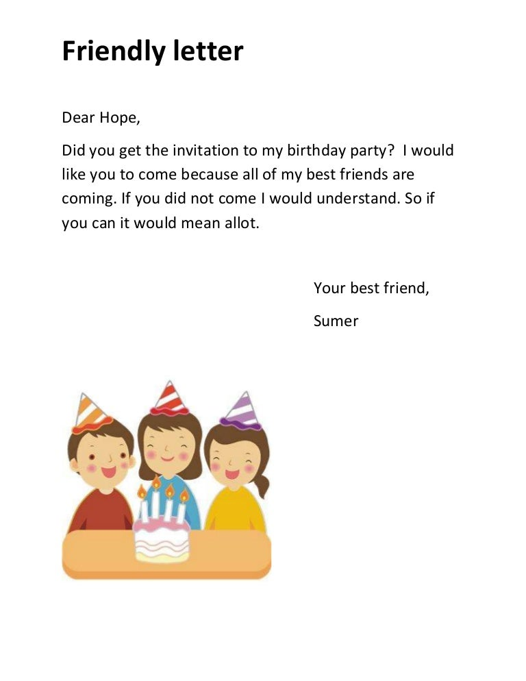 Friendlyletterphpappthumbnailjpgcb - Birthday invitation letter to a friend in english