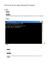MS-DOS commands